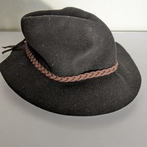 Vintage Wool Fedora with Brim Detail 100% Wool